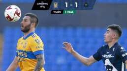 Tigres 1-1 Pumas | Carlos González rescata el invicto con las garras