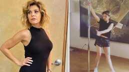 Itatí Cantoral sorprende al bailar pole dance como toda una profesional: '¡Qué divertido!'
