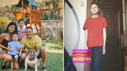 Edwin Luna le echa porras al hijo de Kimberly Flores para motivarlo a ejercitarse: ¡Tú puedes, con todo el power!