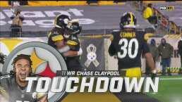 ¡TD Steelers! Big Ben encuentra a Claypool en la zona de anotación
