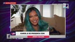Karol G estrena su disco nuevo 'KG0516' y se presenta en el programa de Jimmy Fallon