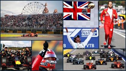 Hamilton se adjudica el primer lugar, quien aprovechó los problemas de la escudería Ferrari para obtener la victoria.