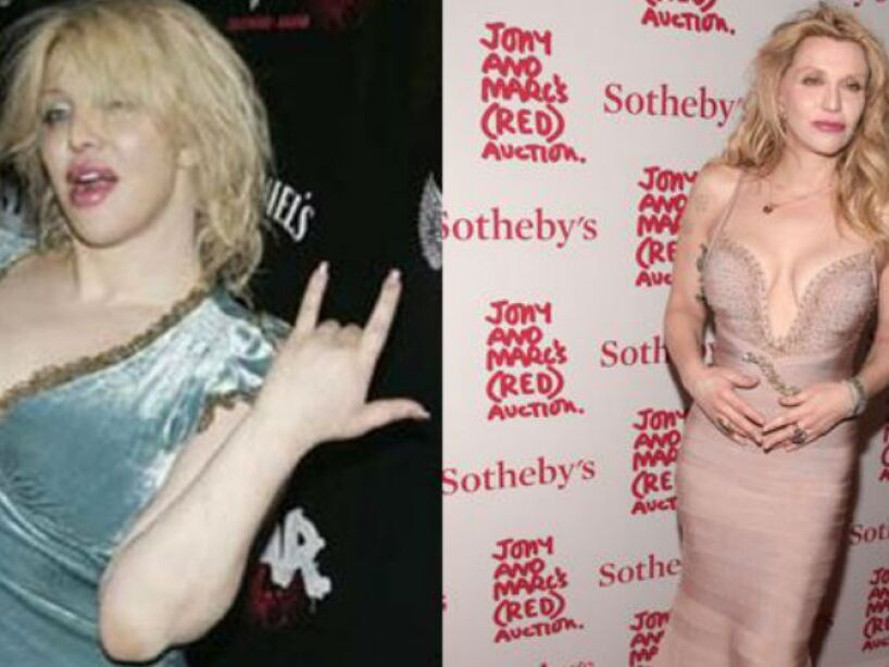 3. Courtney Love: La rockera lucía pasada de peso como cantante, pero como actriz adelgazó y se volvió hot.