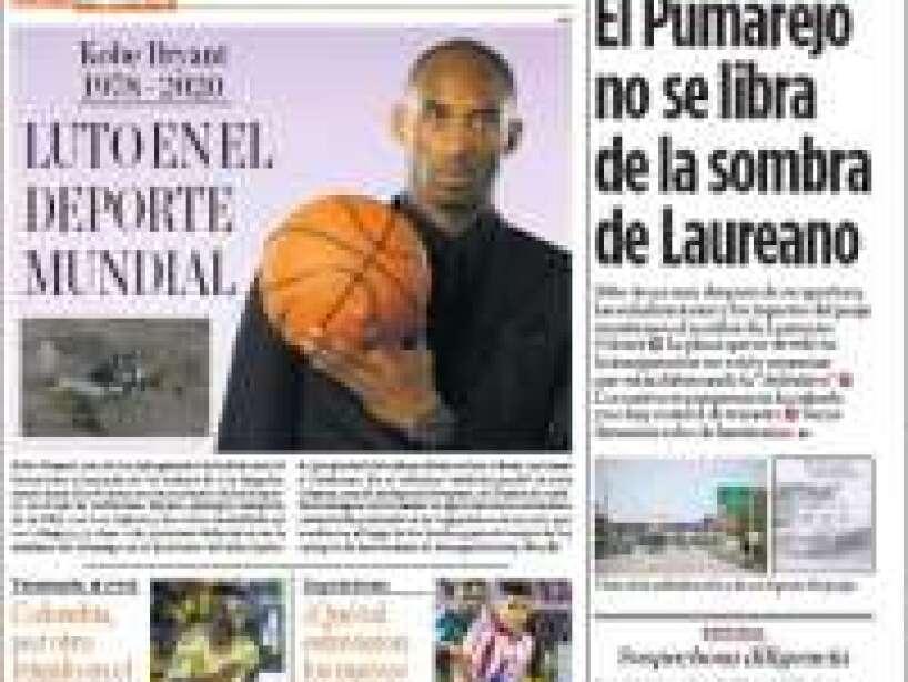 Kobe Bryant, periódico, EL HERALDO.jpg