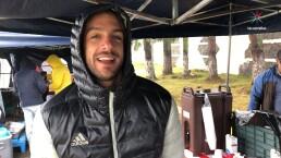 Joaquín Ferreira le pone buena cara al mal tiempo mientras graba 'Doña Flor y sus dos maridos'
