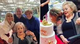 Silvia Pinal celebra a lo grande su cumpleaños, con todo y mariachi