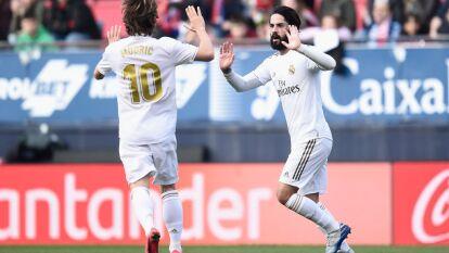 Isco, Sergio Ramos, Lucas Vázques y Jovic dieron la victoria al Real Madrid sobre el Osasuna 4-1. Un acto que llamó la atención fueron las carteras que los fanáticos del Osasuna aventaron al campo como protesta hacia la directiva del club.
