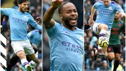 El cuadro de Guardiola goleó 3-0 al Aston Villa y se mantiene en los primeros puestos de la liga.