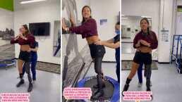 Daniella Álvarez muestra cómo ha comenzado a saltar con su prótesis: 'Todo se puede en la vida'