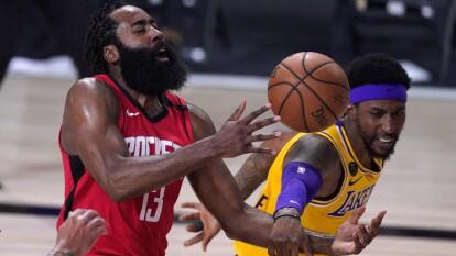 Los Lakers derrotan a los Rockets 110-100 en el juago cuatro y se quedan a una victoria de llegar a la final de conferencia.