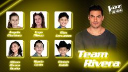 Ellos representarán al Team Rivera en la semifinal de La Voz Kids