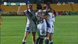 ¡Gol de la Franja! Dayana Cazares empata el juego para Puebla