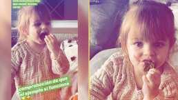 ¡Quiero espinaca mamá!: Aislinn Derbez le pone el ejemplo a Kailani para comer saludable