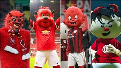 - Cuatro equipos en el mundo son apodados 'Diablos Rojos'.<br>- Este mote lo comparten Kaiserslautern de Alemania, Milan de Italia, Manchester United de Inglaterra y Toluca de México.<br>- Ac Milan: <i>Il Diavolo</i> <br>- Kaiserslautern = <i>Die roten Teufel </i><br>- Manchester United = <i>Red Devils</i><br>- Toluca =<i> Diablos Rojos</i><br>- Todos coinciden en que el mote y, por supuesto, su mascota son diablos rojos.</br></br></br></br></br></br>