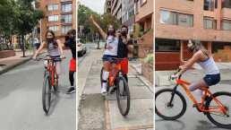 Para la modelo colombiana que perdió su pierna no hay imposibles; ahora se atreve a rodar en bicicleta