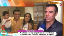 Adrián Uribe aleja a su hijo del escándalo de su madre, Karla Pineda