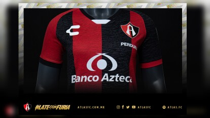 El equipo femenil del Atlas presentó un jersey de local muy elegante con los colores tradicionales del club.