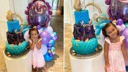 Mira la carita de emoción de Renny, hija de Jacky Bracamontes, al celebrar su cumpleaños