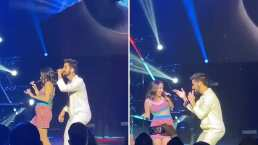 Evaluna muestra su pancita de embarazada en pleno concierto junto a Camilo