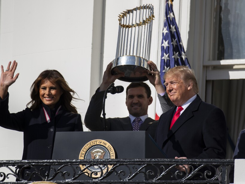 Donald Trump, Melania Trump, Ryan Zimmerman