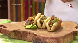 Receta: Hot Dog abierto de rib eye y salsa macha