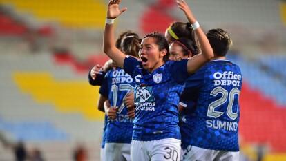 Las Tuzas vencen 3-1 a Tigres con goles de Mónica Ocampo y Lizbeth González (2); María Fernanda Elizondo marcó por Tigres.