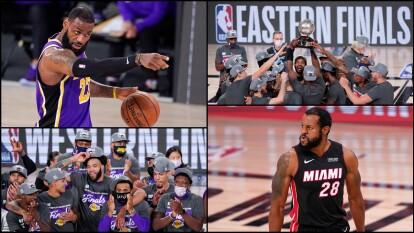 ¿Cómo se jugarán las Finales 2020 de la NBA?   La serie inédita entre los Lakers y el Heat tendrá lugar en la 'burbuja' de Orlando.