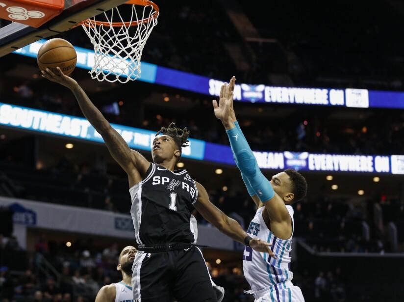 Spurs Hornets Basketball