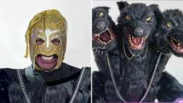 Cerbero se quita sus tres máscaras y resulta ser el Escorpión Dorado