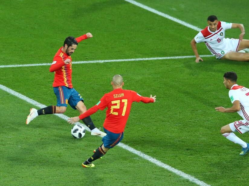 España vs Marruecos, en imágenes
