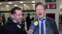 Así fue la llegada de Conan O'Brien a México