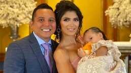 Mira cómo fue el lujoso bautizo de la hija de Edwin Luna y Kimberly Flores