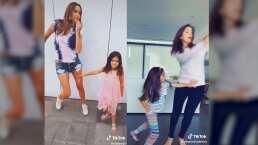 Gia, hija de Odalys Ramírez, no se queda atrás e imita a Aitana Derbez para darle un 'empujón' a su mamá