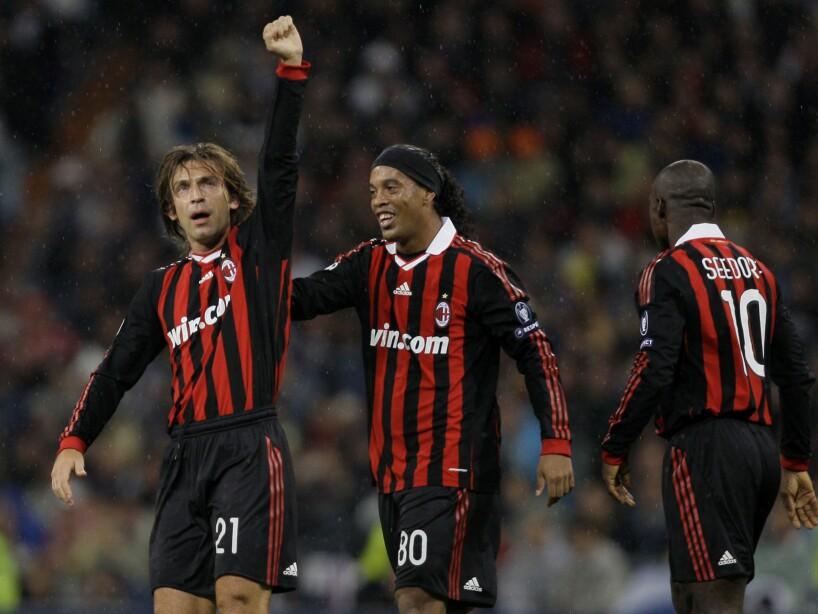 Andrea Pirlo, Ronaldinho, Clarence Seedorf