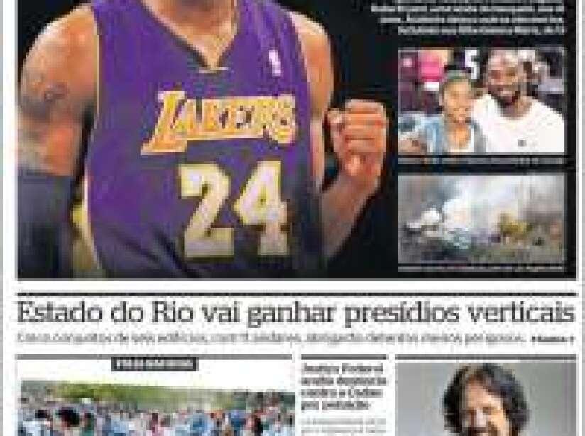 Kobe Bryant, periódico, EXTRA.jpg