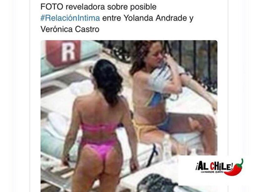 Yolanda Andrade le reclama a Veronica Castro por mentir sobre su relación