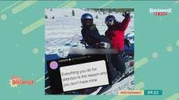 Lorenzo Méndez publica y luego elimina una foto donde se le ve feliz esquiando con Chiquis Rivera