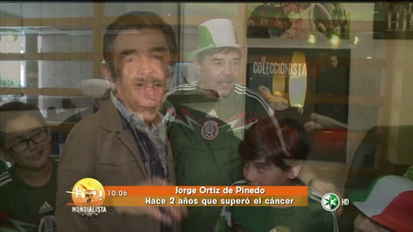Jorge Ortiz de Pinedo festeja haber vencido al cáncer