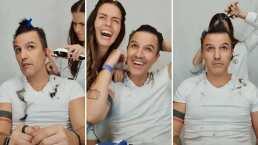 Video: Claudia Álvarez descubrió su 'nueva profesión', y ahora es la peluquera oficial de su esposo, Billy Rovzar
