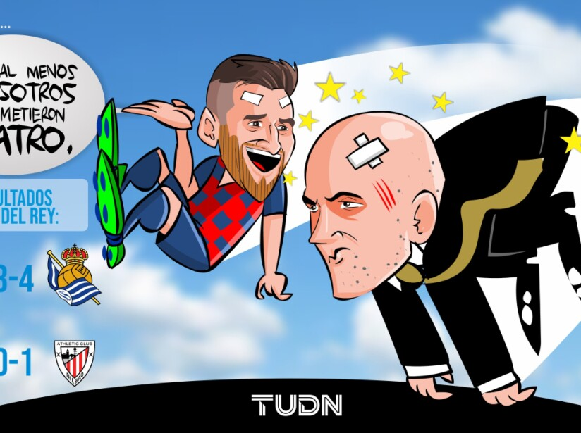 Messi Zidane Real Madrid y Barcelona fuera.jpg