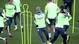 Kun Agüero vuelve a entrenar en grupo tras superar lesión