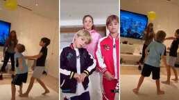 Shakira se divierte con sus hijos practicando para el Mundial de Globos
