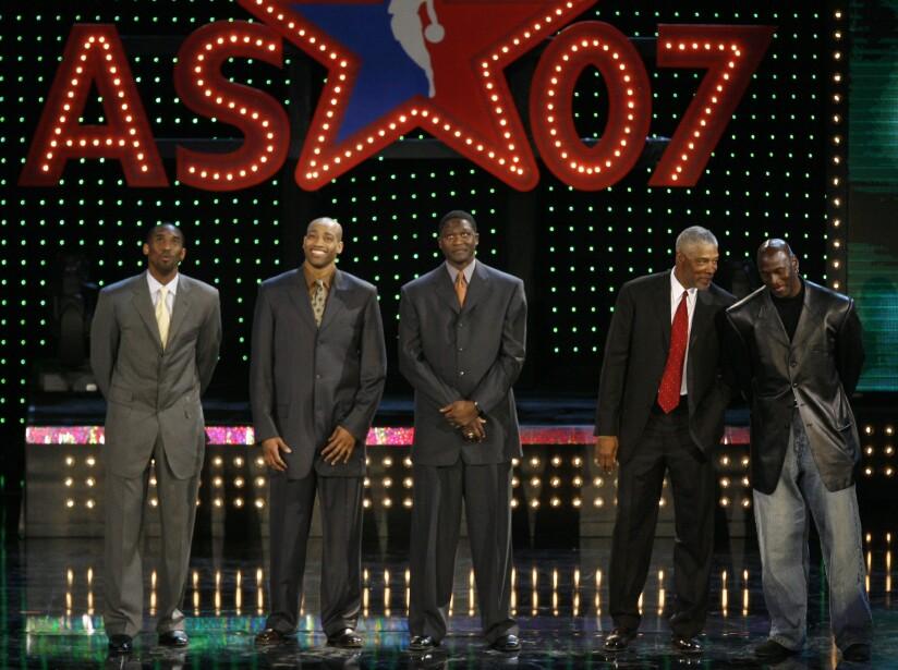 Kobe Bryant, Vince Carter, Dominique Wilkins, Julius Erving, Michael Jordan
