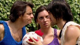 La familia P. Luche: Ludovico juega una cascarita contra el novio de Bibi