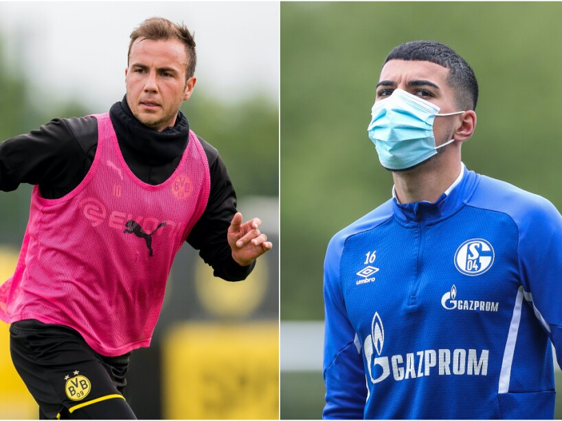 Dortmund y Schalke 04 entrenando.jpg