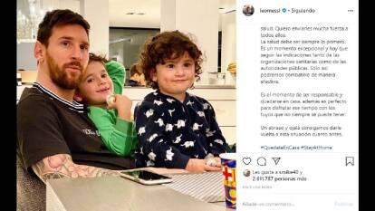 Messi invita a reflexionar sobre la salud y a disfrutar de la familia.