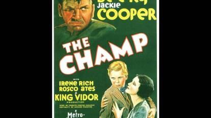 The Champ. Wallace Beery, quien interpretó la vida de un pugilista alcohólico, ganó el Oscar por mejor actor en 1932.