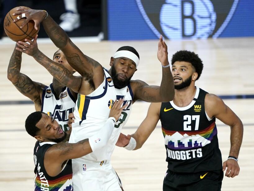APTOPIX Jazz Nuggets Basketball