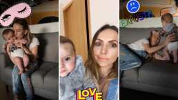 En este video, Erika Zaba muestra el moretón que le quedó a su bebé tras caerse de la cama: 'Lloré mucho'