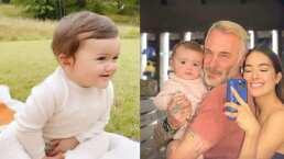 Blu, hija de Sharon Fonseca, reacciona tiernamente a las burbujas que su papá le enseña